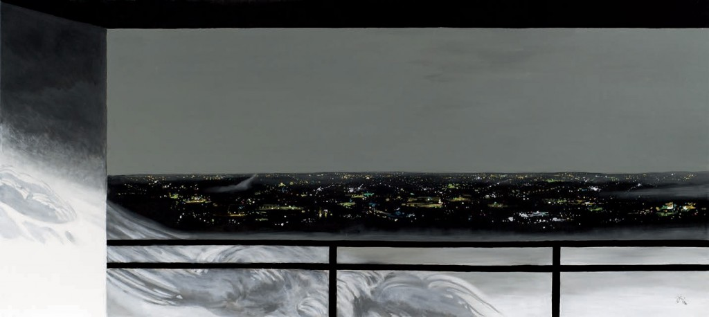 Jiri Hauschka, painter, stuckism, art, On the Balcony - Invisible Accident