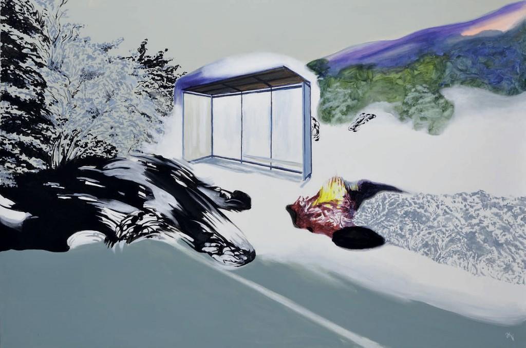 Jiri Hauschka, painter, stuckism, art, Waiting