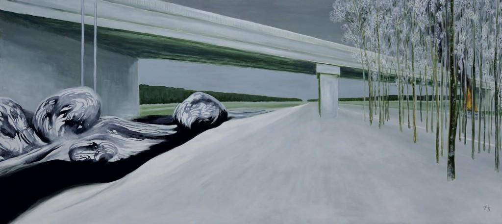 Jiri Hauschka, painter, stuckism, art, White Bridge