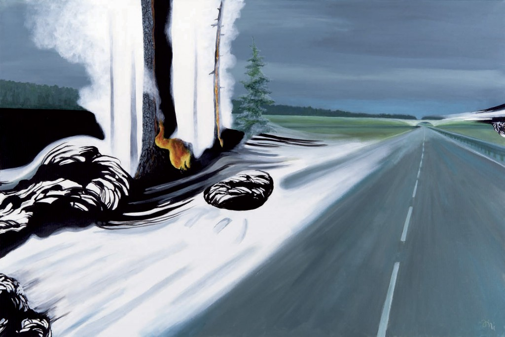 Jiri Hauschka, painter, stuckism, art, White Highway