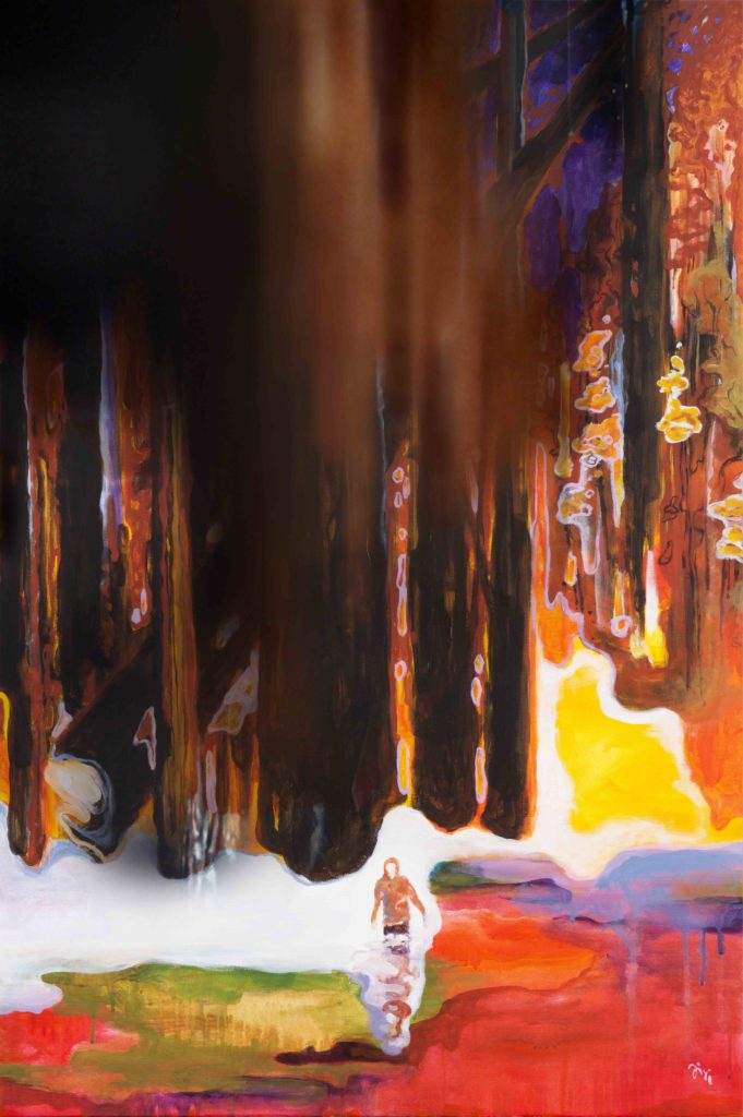 Jiri Hauschka, painter, stuckism, art, Autumn bath