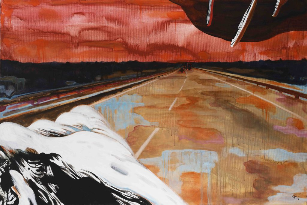 Jiri Hauschka, painter, stuckism, art, Highway