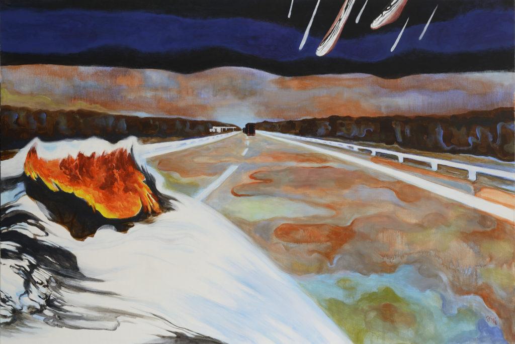 Jiri Hauschka, painter, stuckism, art, In the middle of Somewhere