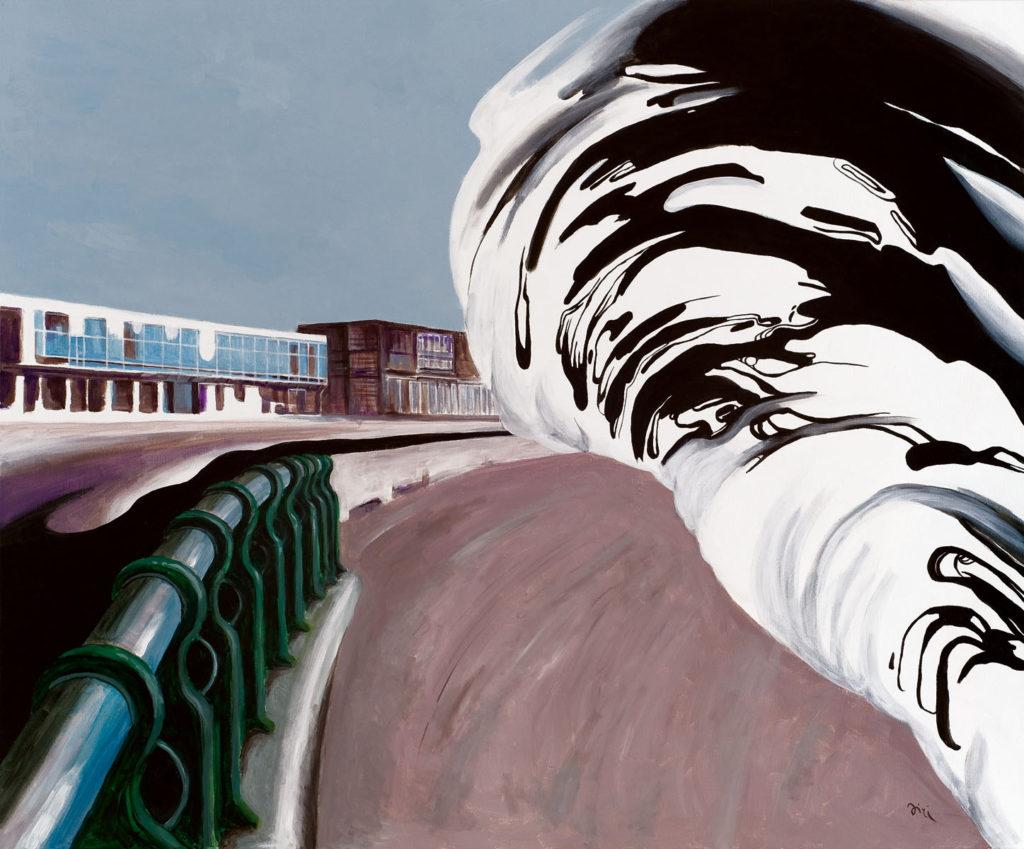 Jiri Hauschka, painter, stuckism, art, Wave